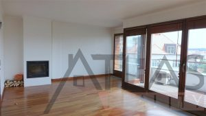 Living area with great views of the city - For Rent: Luxury 2BD Apartment, 172 sqm, Prague 2 - Vinohrady, Americká street
