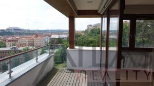 Terrace with great views - For Rent: Luxury 2BD Apartment, 172 sqm, Prague 2 - Vinohrady, Americká street