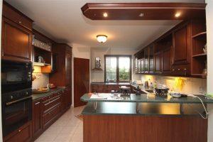 Updated kitchen - For Rent: 8-BD Family Villa Prague 6 - Nebusice.