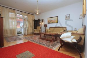 Living room - Rent of fully furnished 2-bedroom apartment, Prague 2 - Vinohrady, Slezska Street