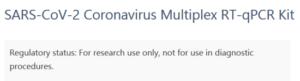 Informace o testovací soupravě viru Covid19
