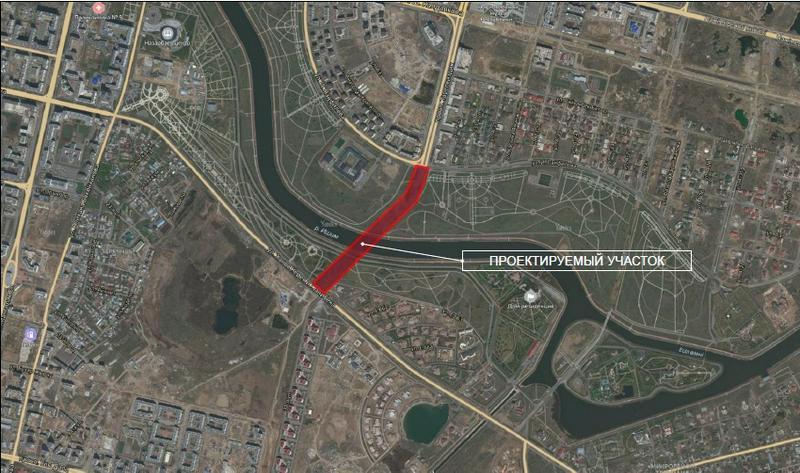 Nový most se objeví na Tauelsizdik Avenue v Nur-Sultan