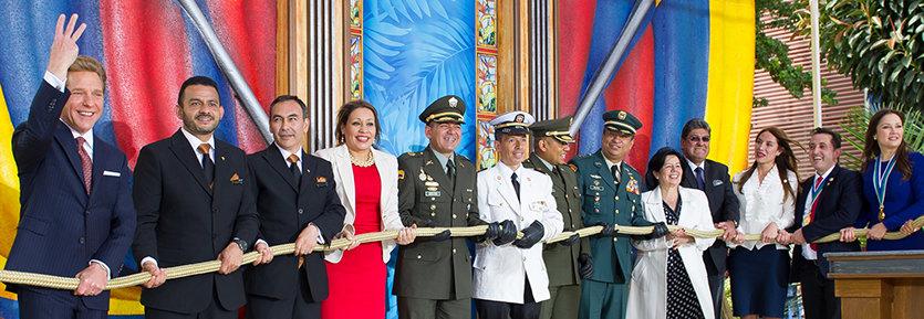 Scientologie Kolumbie Bogota slavnostní otevření Scientologické ideální organizace
