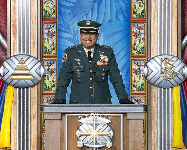 plukovník Anstrongh Polania, ředitel oddělení spojených právních operací, ministerstvo obrany Kolumbie